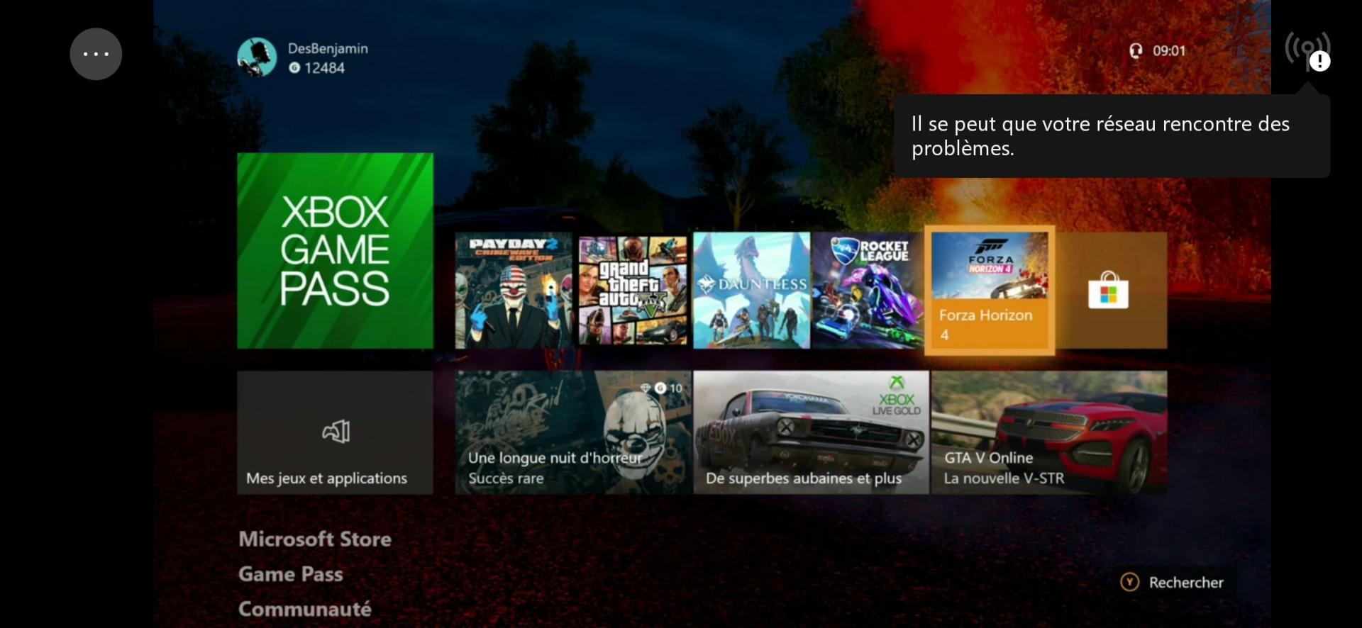 Screenshot Xbox Game Streaming